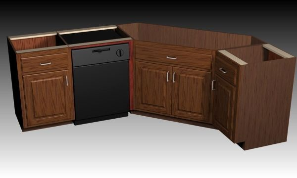 Corner Kitchen Sink Base Cabinet | http://www.woodweb.com ...