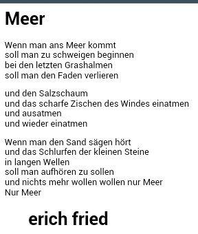 Meer Gedichte Und Sprüche Sprüche Und Gedichte
