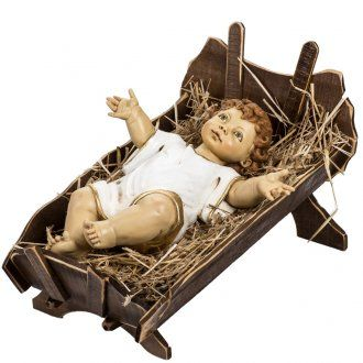 584546fd518 Niño Jesús con cuna de madera 125cm. Fontanini