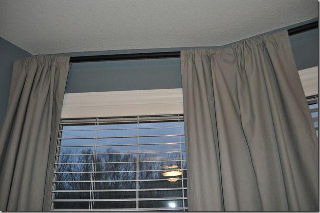 Diy Curtain Rods Diy Bay Window Curtains Diy Curtain Rods Diy