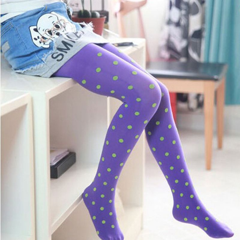 3fd7eb731f98e Click to Buy << High Quality Cute Children Stockings Girl Kids Pantyhose  Dance Tights Dots Velvet Slim Dance Full Foot Tights Clothing CL0856  #Affiliate