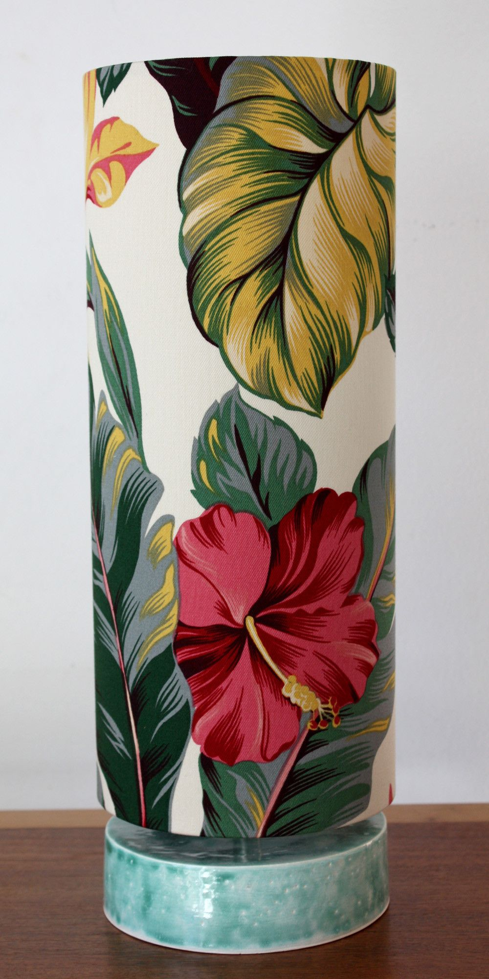 Tropical hibiscus ceramic table lamp ceramic table lamps ceramic tropical hibiscus ceramic table lamp mozeypictures Images