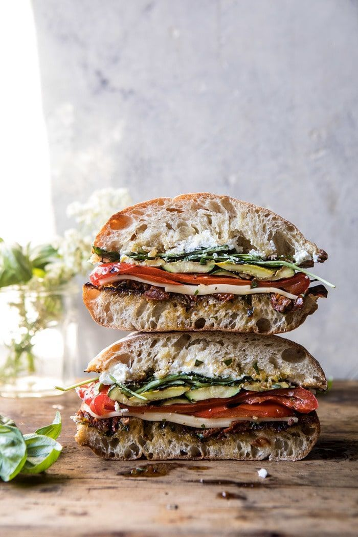 Vegetable and Cheese Sandwich with Sun-Dried Tomato Pesto Marinated Veggie Cheese Sandwich with Sun-Dried Tomato Pesto | Marinated Veggie Cheese Sandwich with Sun-Dried Tomato Pesto |