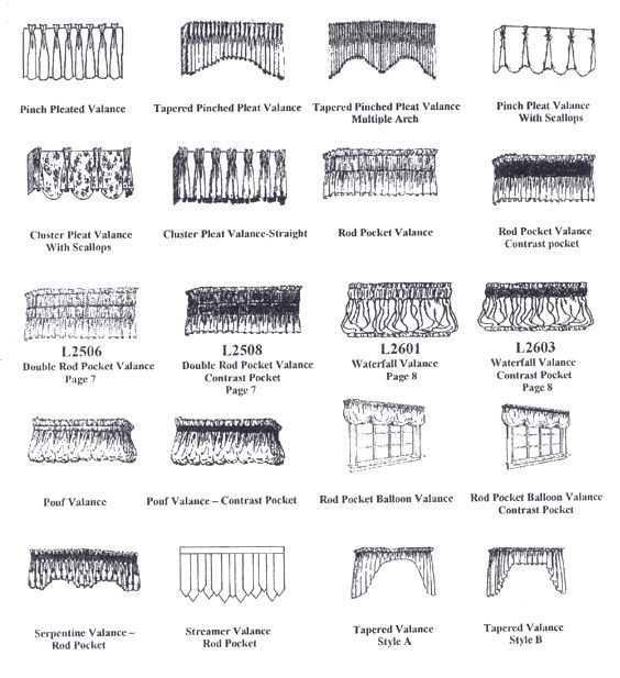 valance styles these are some of the most popular valance styles