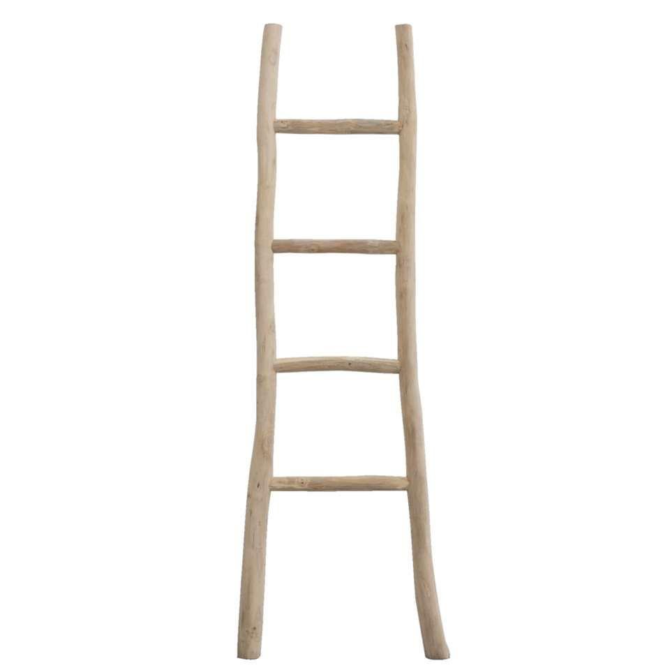Decoratieve Ladder Roel Teakkleur 160x55x5 Cm Decoratieve Ladders Houten Ladder Ladder