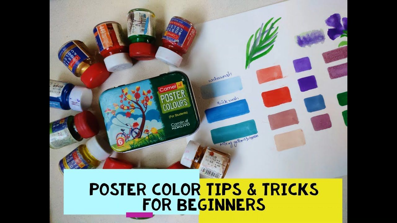 Poster Color Tips Tricks For Beginners Postercolor Hacks In Hindi Poster Colour Poster Color Painting Color