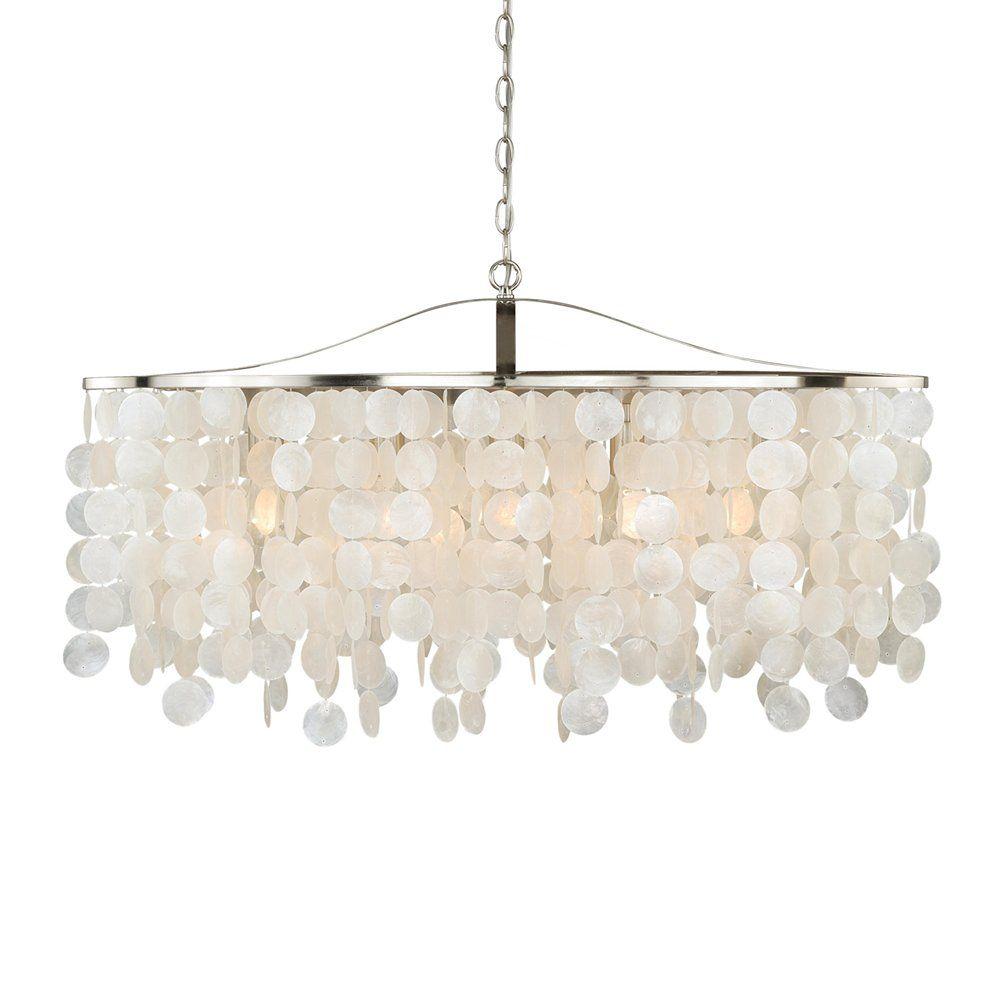 shop vaxcel lighting p0140 elsa capiz shell 36 in pendant at atg