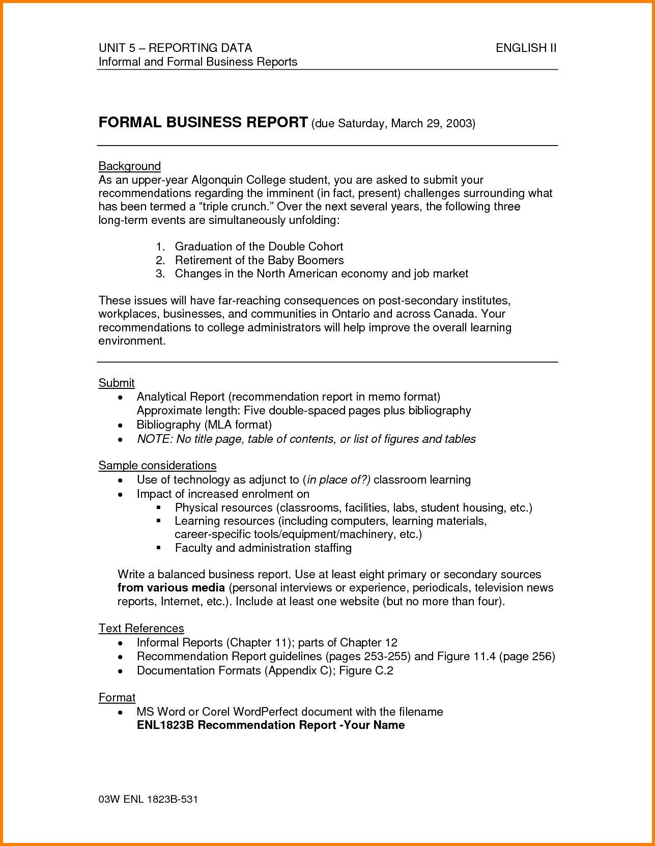 Report Writing Example For Students Factual Examples Pdf Throughout Report Writing Template Downloa In 2020 Business Analysis Report Writing Template Writing Templates