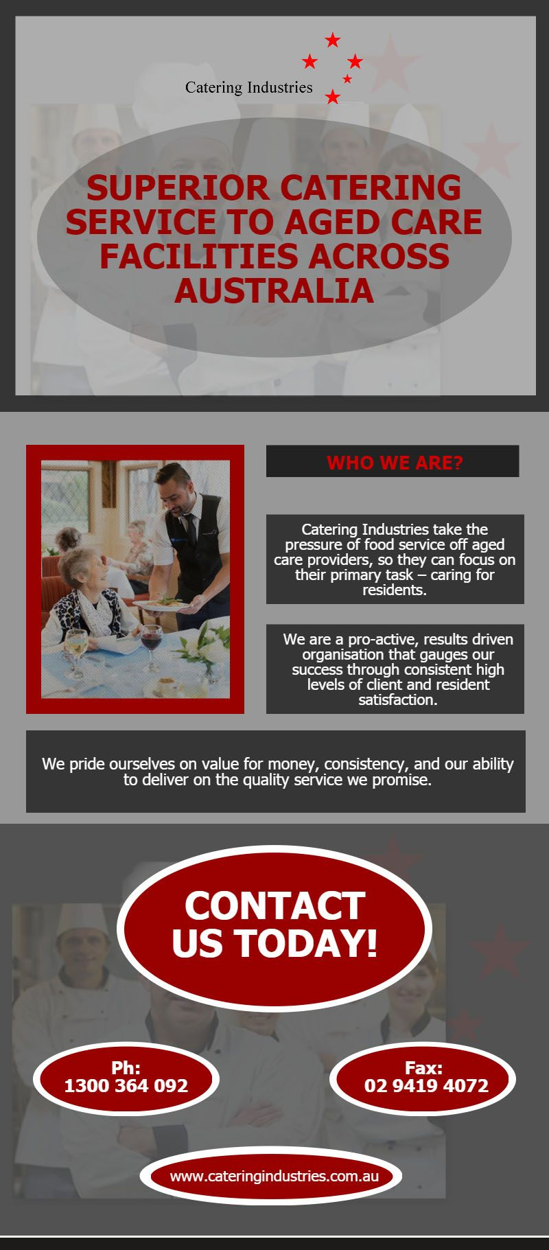 Superior Catering Service To Aged Care Catering Facilities