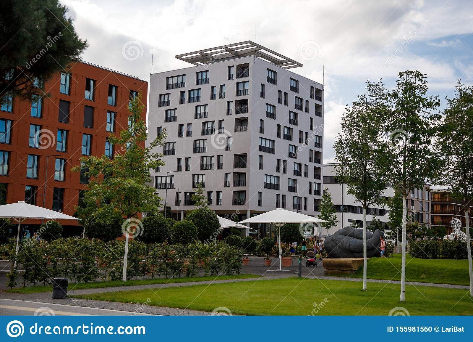Heilbronn Germany August 12 2019 Colorful Modern District During The Federal Garden Show 2019 Buga Heilbronn Garden Show Modern Germany