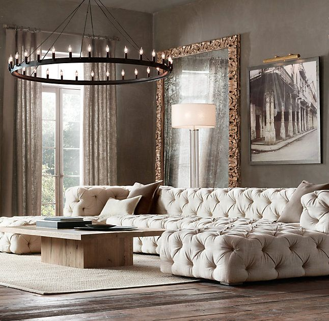Superb Preconfigured Soho Tufted U Chaise Sectional