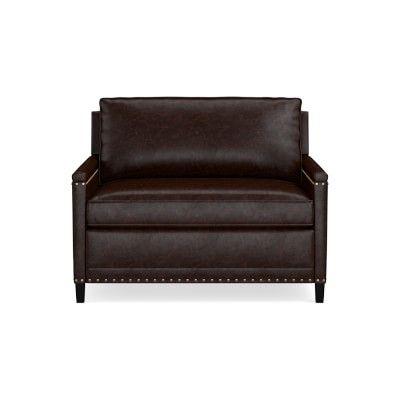 Addison 48 Sleeper Sofa Nailhead Down Cushion Italian