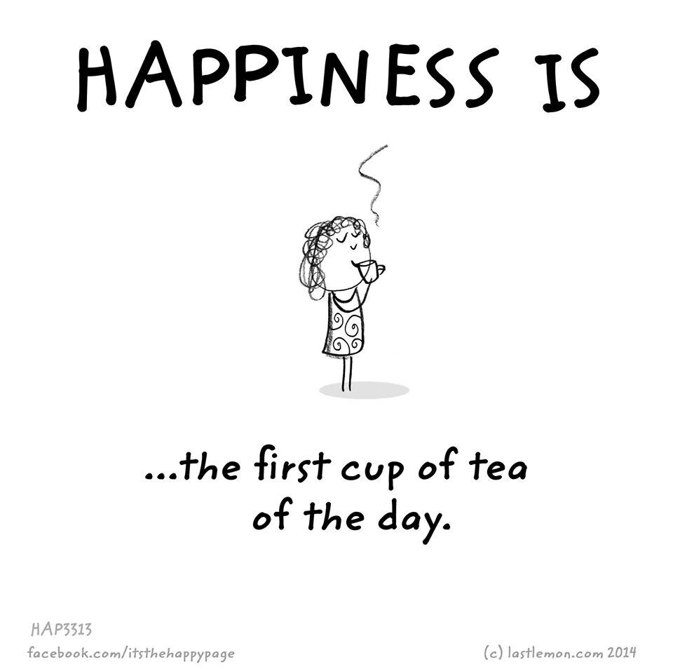Happiness is the first cup of tea of the day. #cuppatea