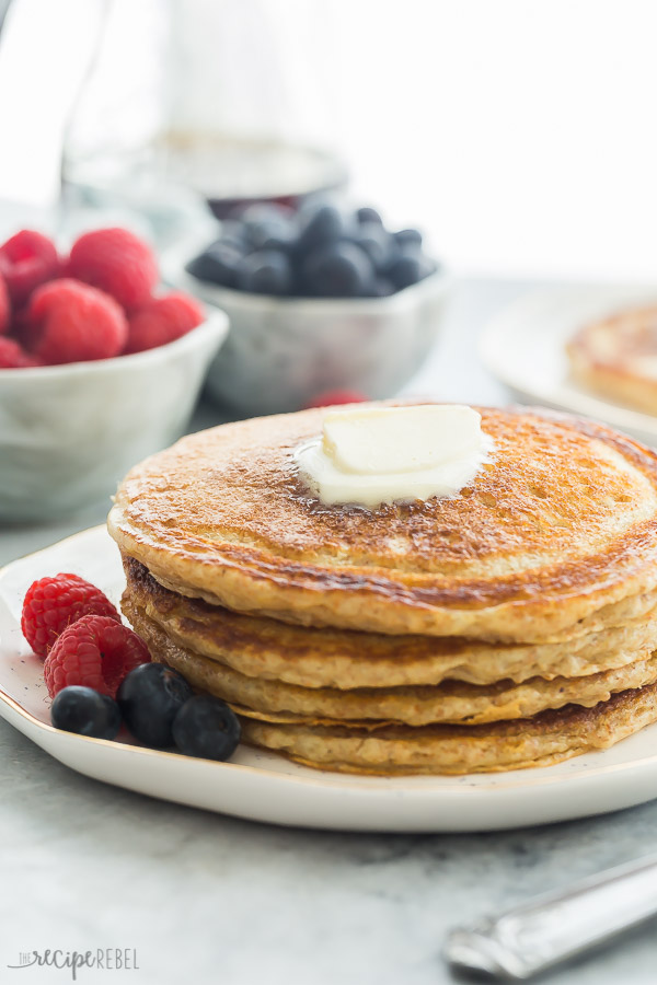 These Fluffy Whole Wheat Pancakes Are Made With Buttermilk And Have The Best Flavor They Re Freezer Friendly And Grea In 2020 Food Whole Wheat Pancakes Brunch Recipes