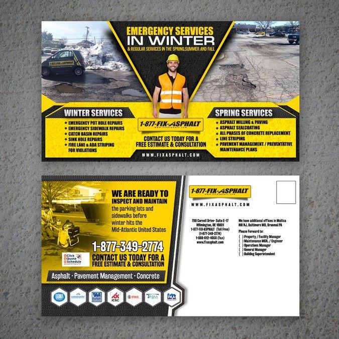 Post card design for an asphalt and concrete company by graphical post card design for an asphalt and concrete company by graphical soul colourmoves
