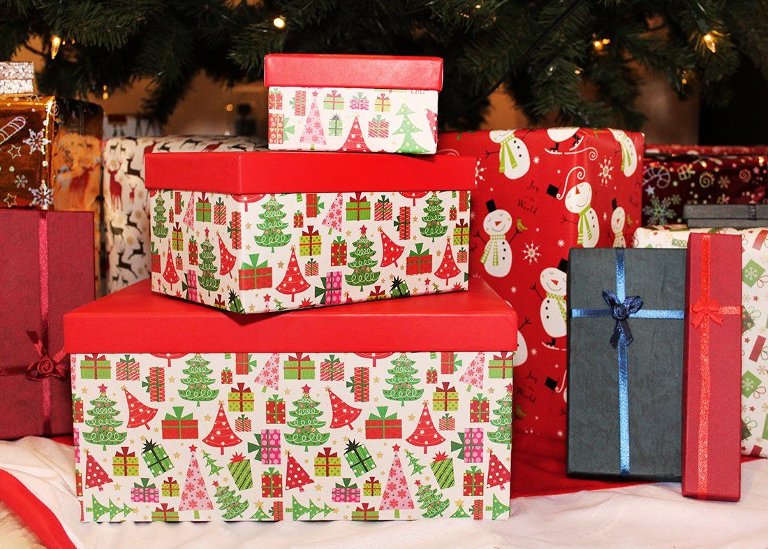 Juvale Set of 10 Boxes - Nesting Box Set Lids Christmas Morning ...