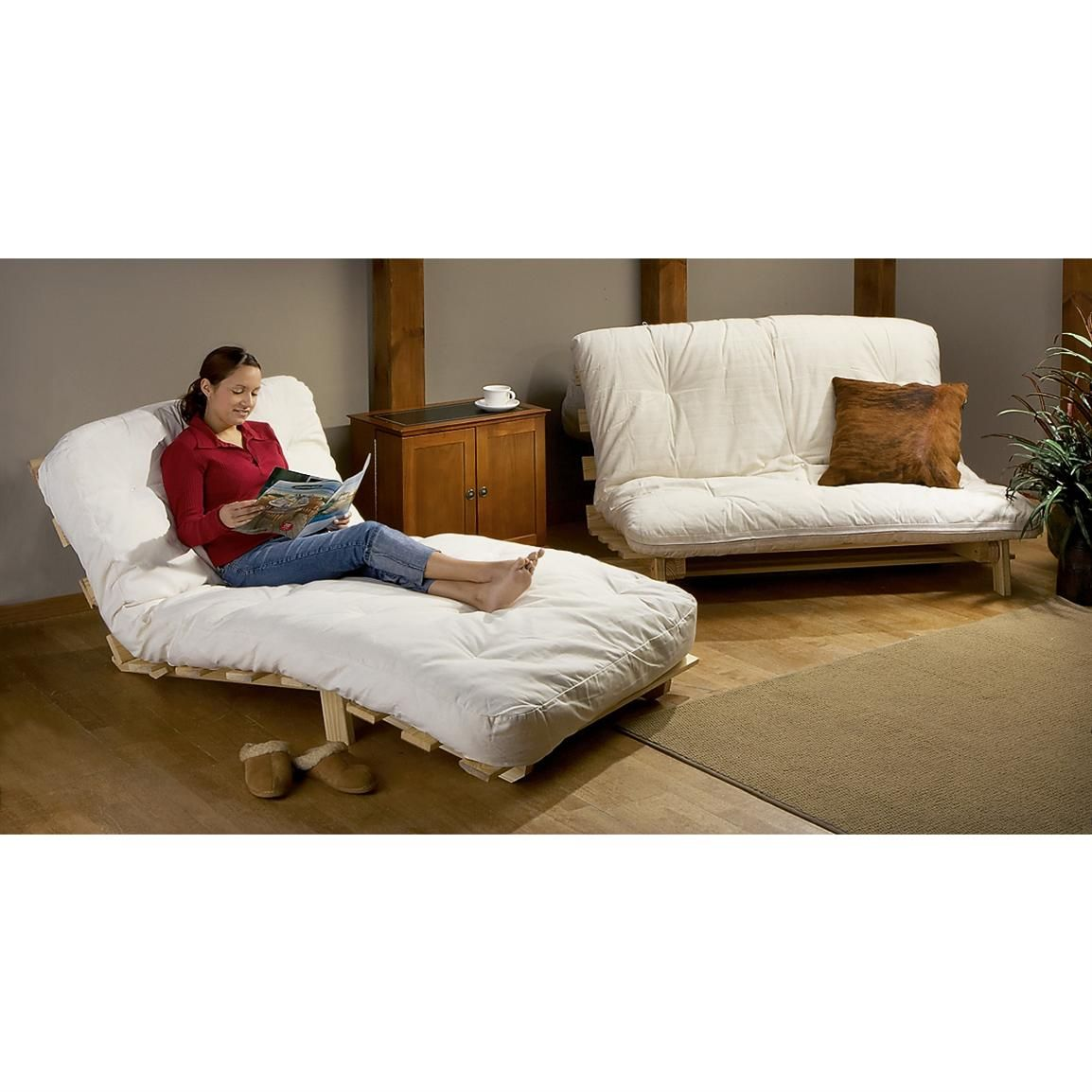 mattress itm clay futon inch home alder hansen size twin ebay