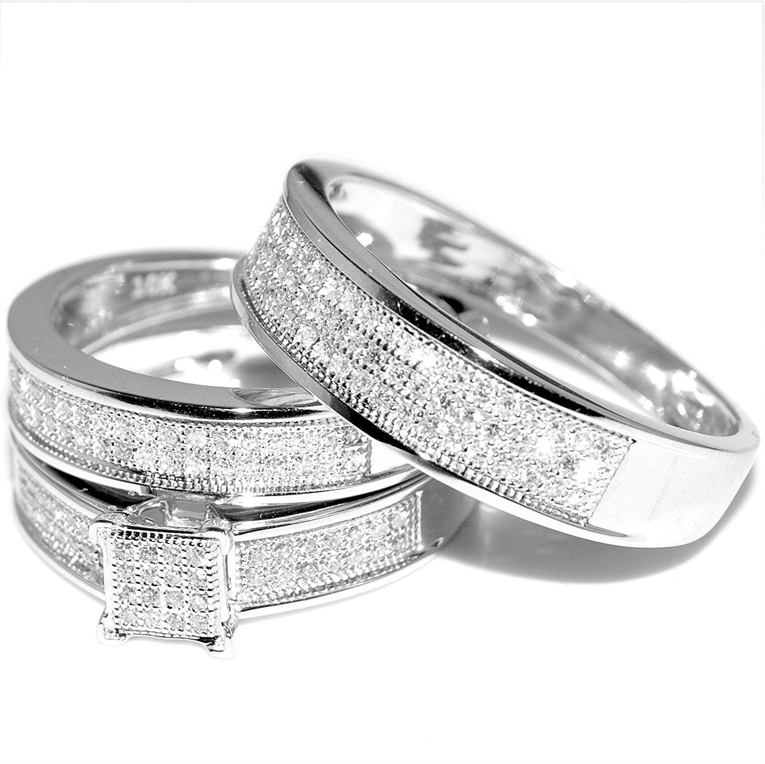Beautiful White Gold Wedding Ring Sets For Women Matvuk Com White Gold Wedding Ring Set Wedding Rings Sets Gold Cheap Wedding Rings Sets