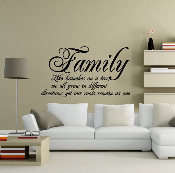 Bon Family Roots Quote Vinyl Wall Art Decal Black By PlayOnWalls