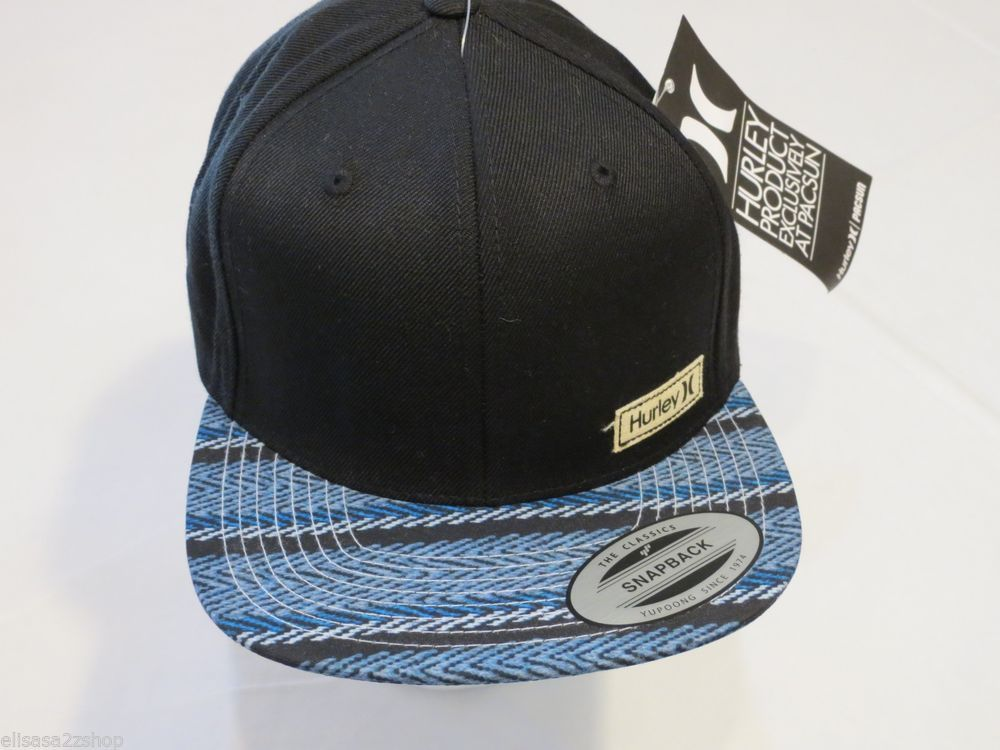 59e147e9df668 ... germany hurley hat cap mens adult surf skate blue black rare classics  snapback one size 9bfbf