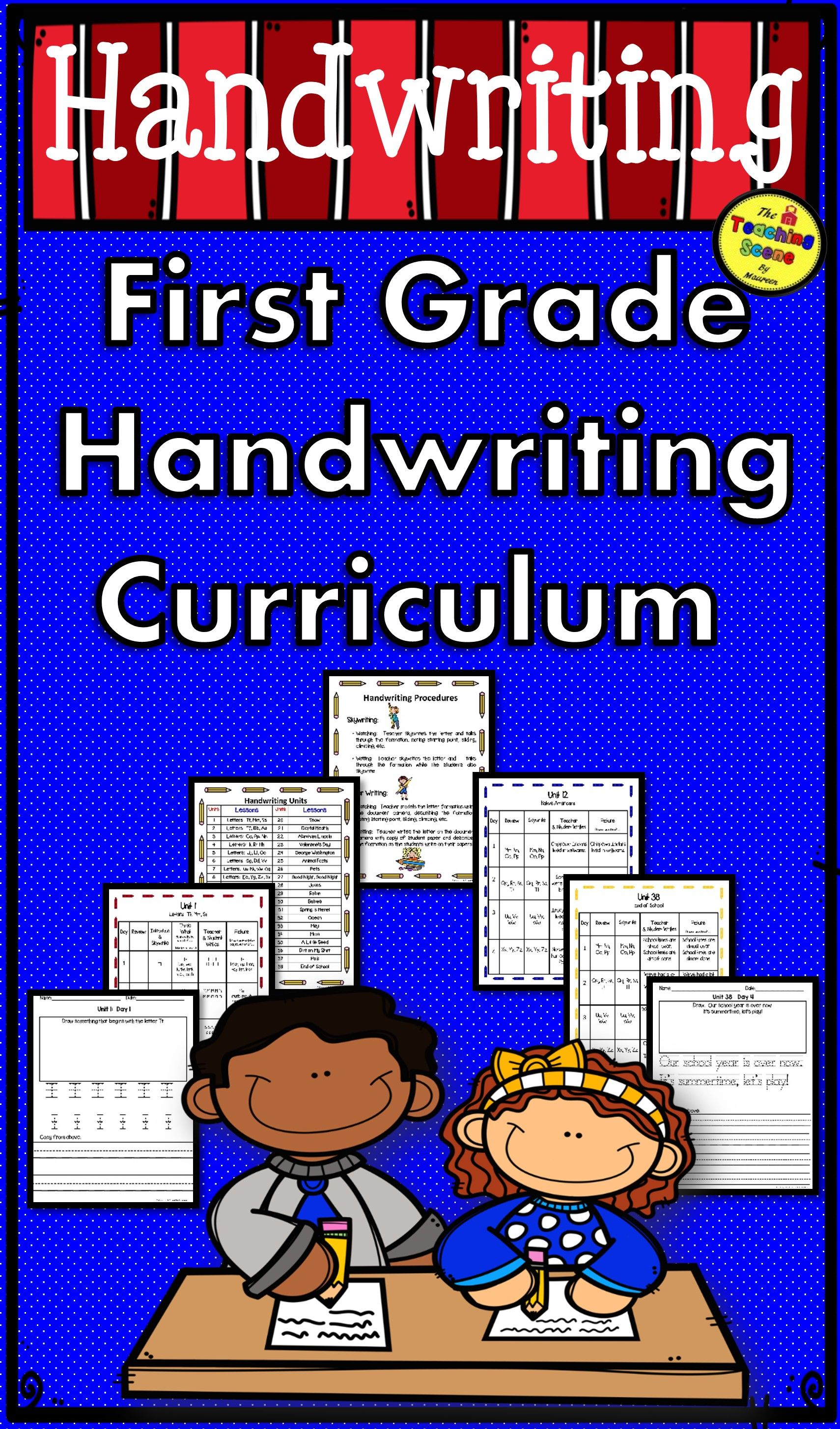 Complete First Grade Handwriting Curriculum