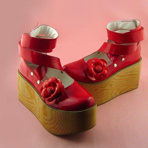 Princesse sweet lolita gothique lolita chaussures Lolita laçage antaina grain de bois à talons hauts plate forme chaussures 9244a dans Pompes de femmes de Chaussures sur AliExpress.com | Alibaba Group
