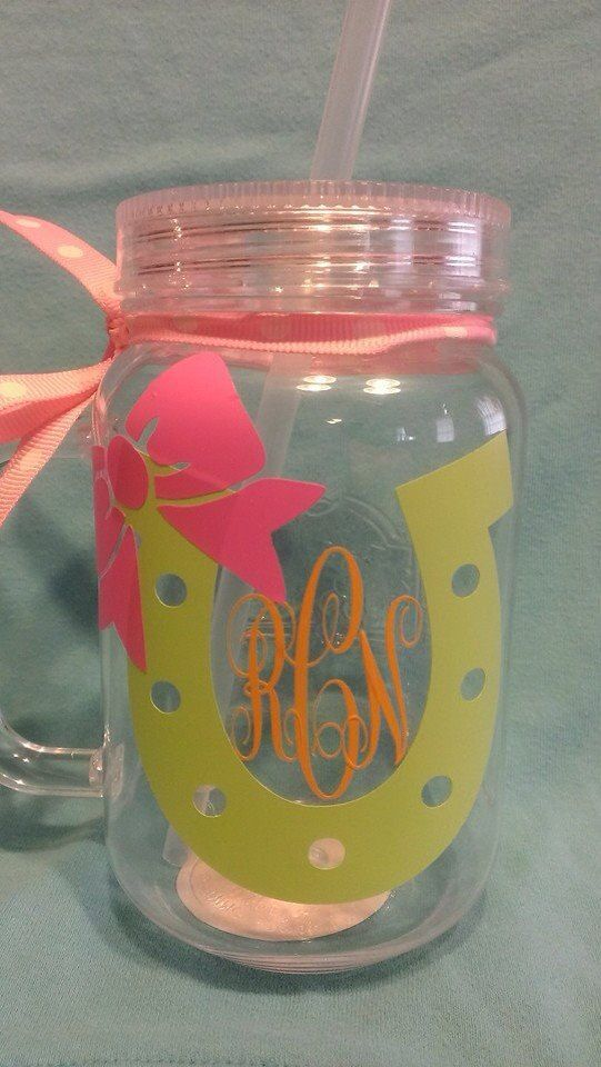 Mason Jar Tumbler on Etsy, $10.00