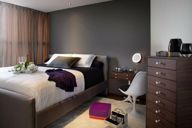 Bildergebnis Fur Braune Mobel Graue Wand Schlafzimmer Design