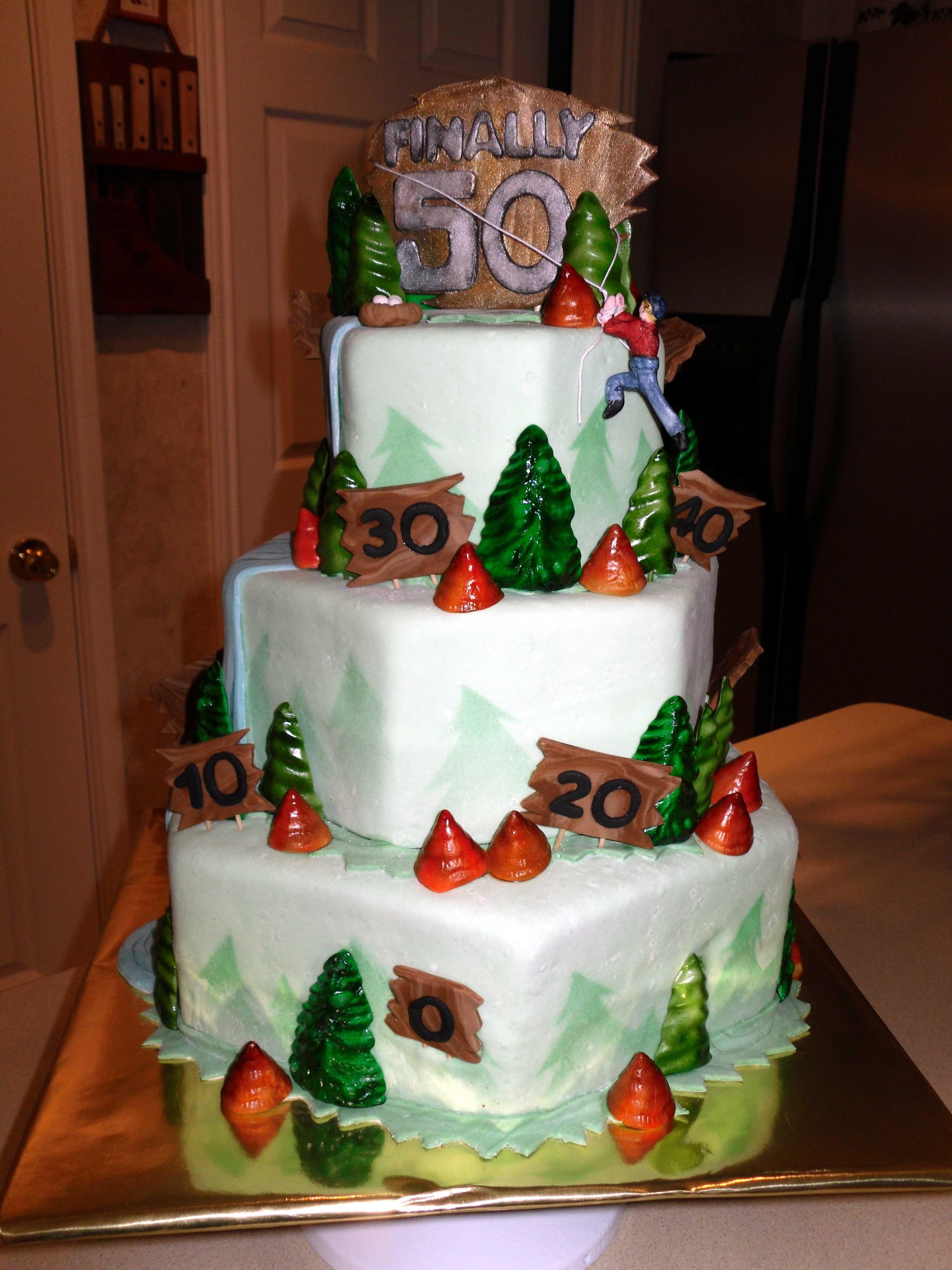 Mountain Climber Birthday Cake My Fondant Cake Designs