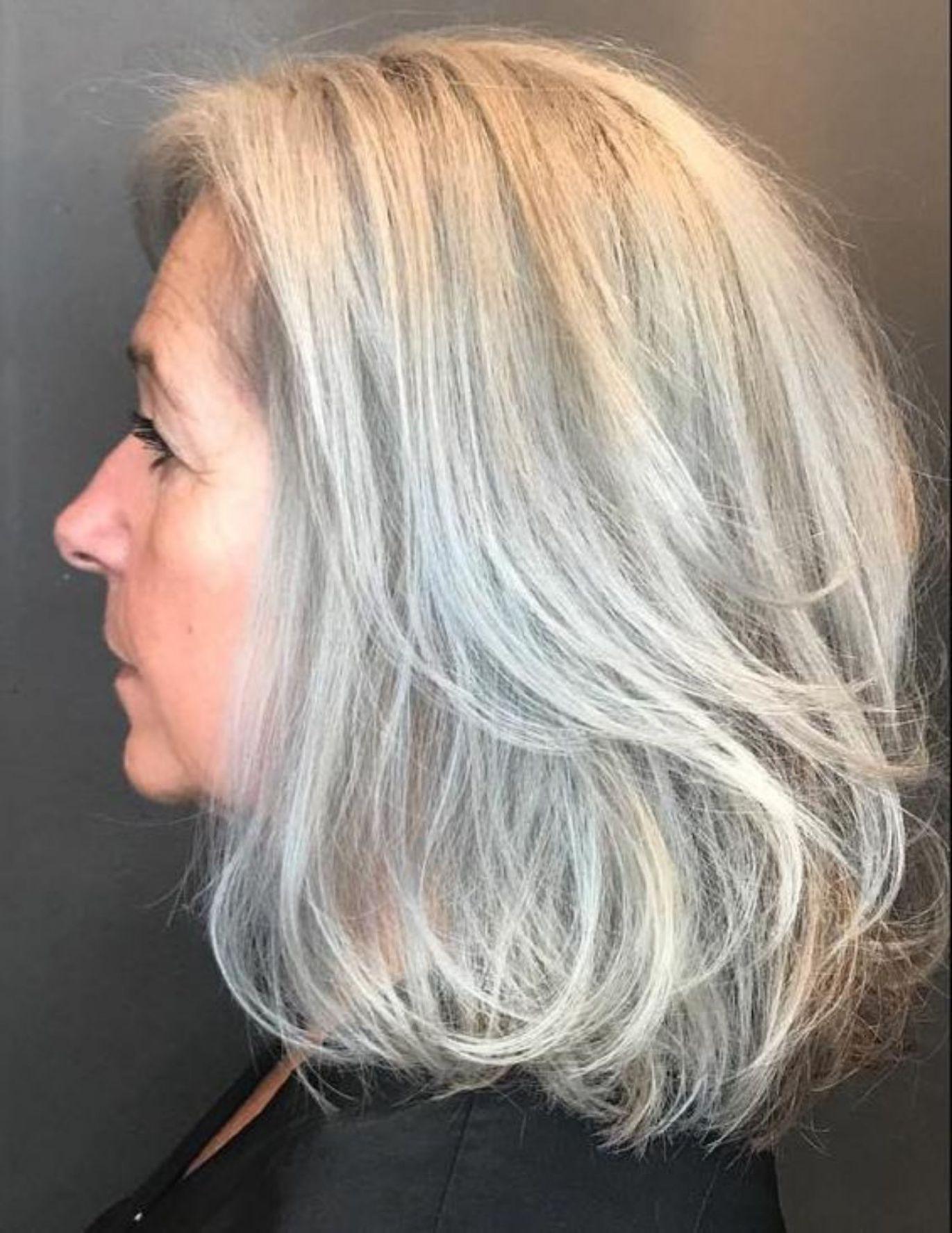 65 Gorgeous Gray Hair Styles Medium Hair Styles Gorgeous Gray Hair Hair Styles