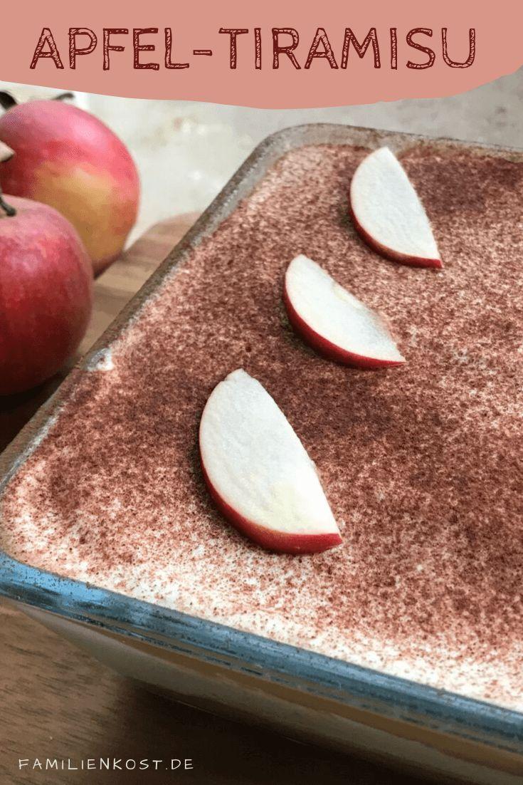 Apfel Tiramisu Rezept mit Löffelbiskuits und Quark