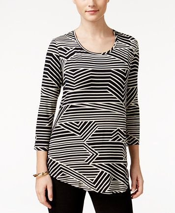 JM Collection Printed Scoop-Neck Top, Only at Macy's | macys.com