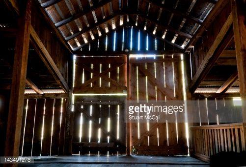 Stock Photo : Interior of a wooden barn