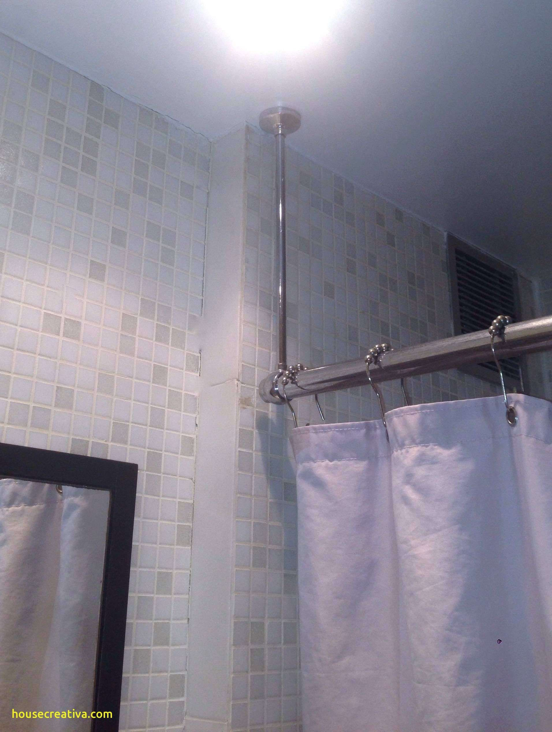 Beautiful Ceiling Mounted Shower Curtain Track Homedecoration