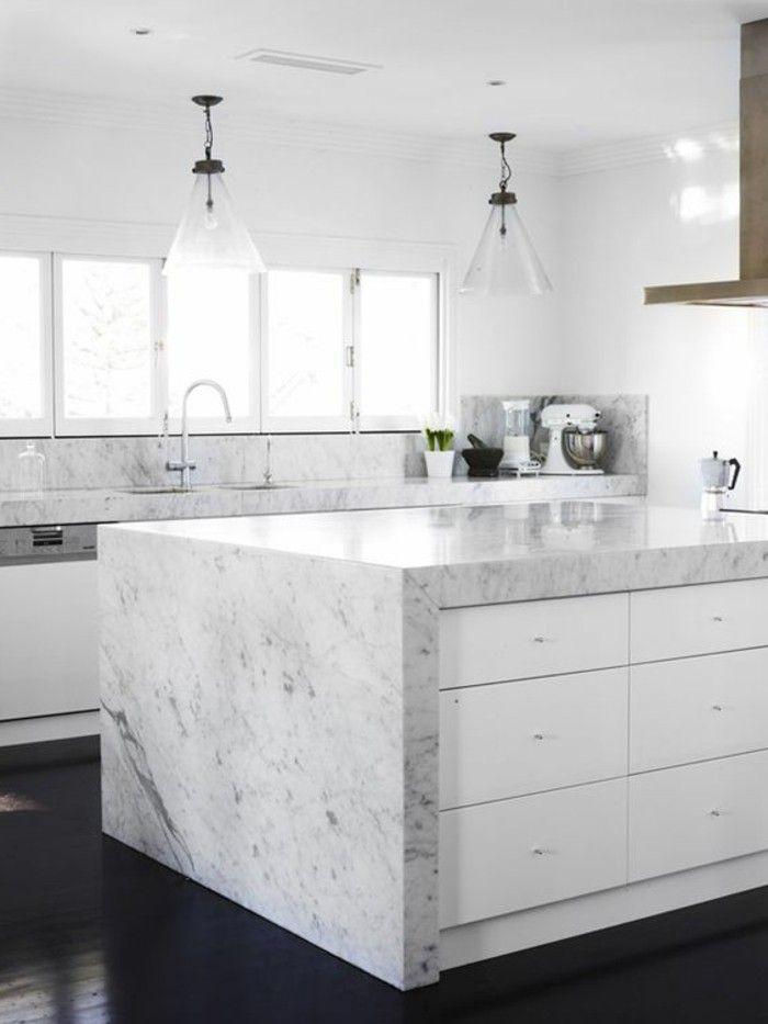 Arbeitsplatte Marmor Grau Weiss White Kitchen Decor White Modern Kitchen Best Kitchen Designs