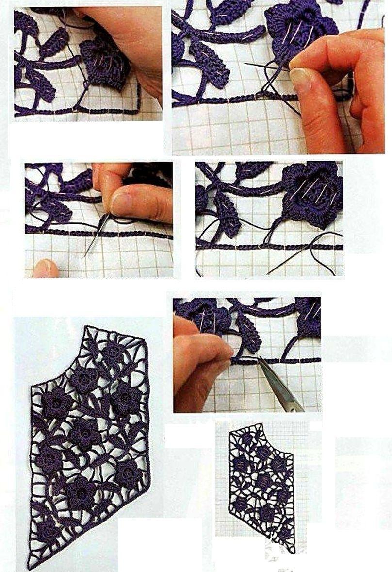Apliques en Cuellos de Crochet - Patrones Crochet   ganchillo ...