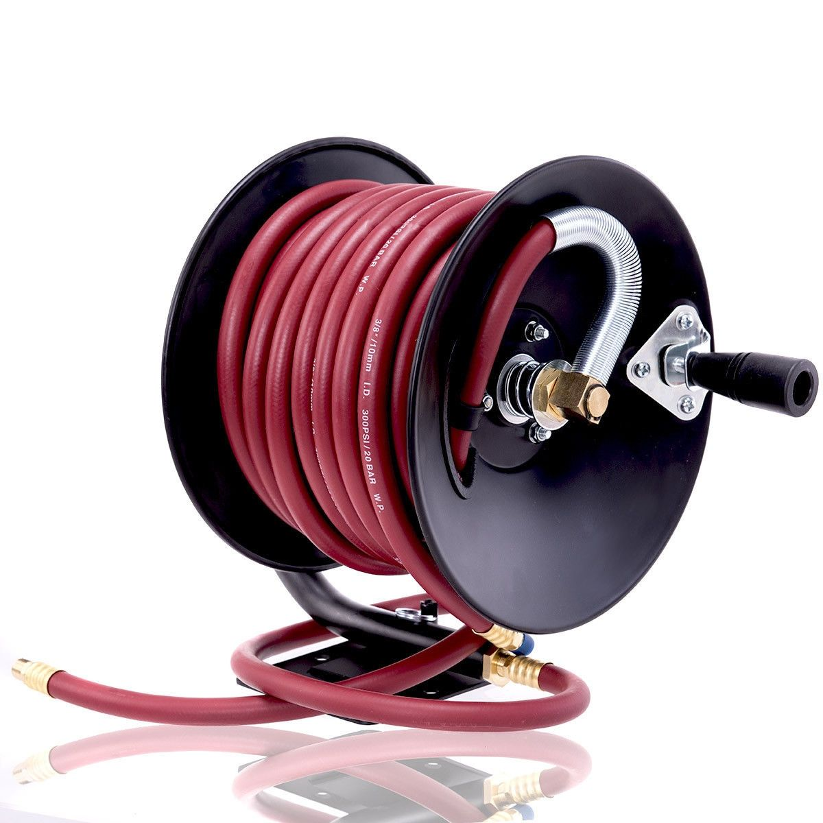 Manual Air Hose Reel With Rubber Air Compressor Hose In 2020 Compressor Hose Air Hose Reel Hose Reel