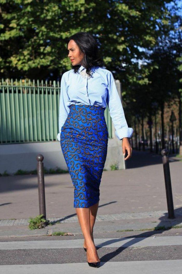 eb88e890d275b8 ▷1001+ idées de pagne africain stylé et comment le porter | Skirt ...
