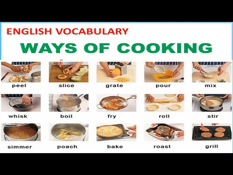 Photo of Ways of Cooking Vocabulary with Pictures, Pronunciations and Definitions – Lesson 12