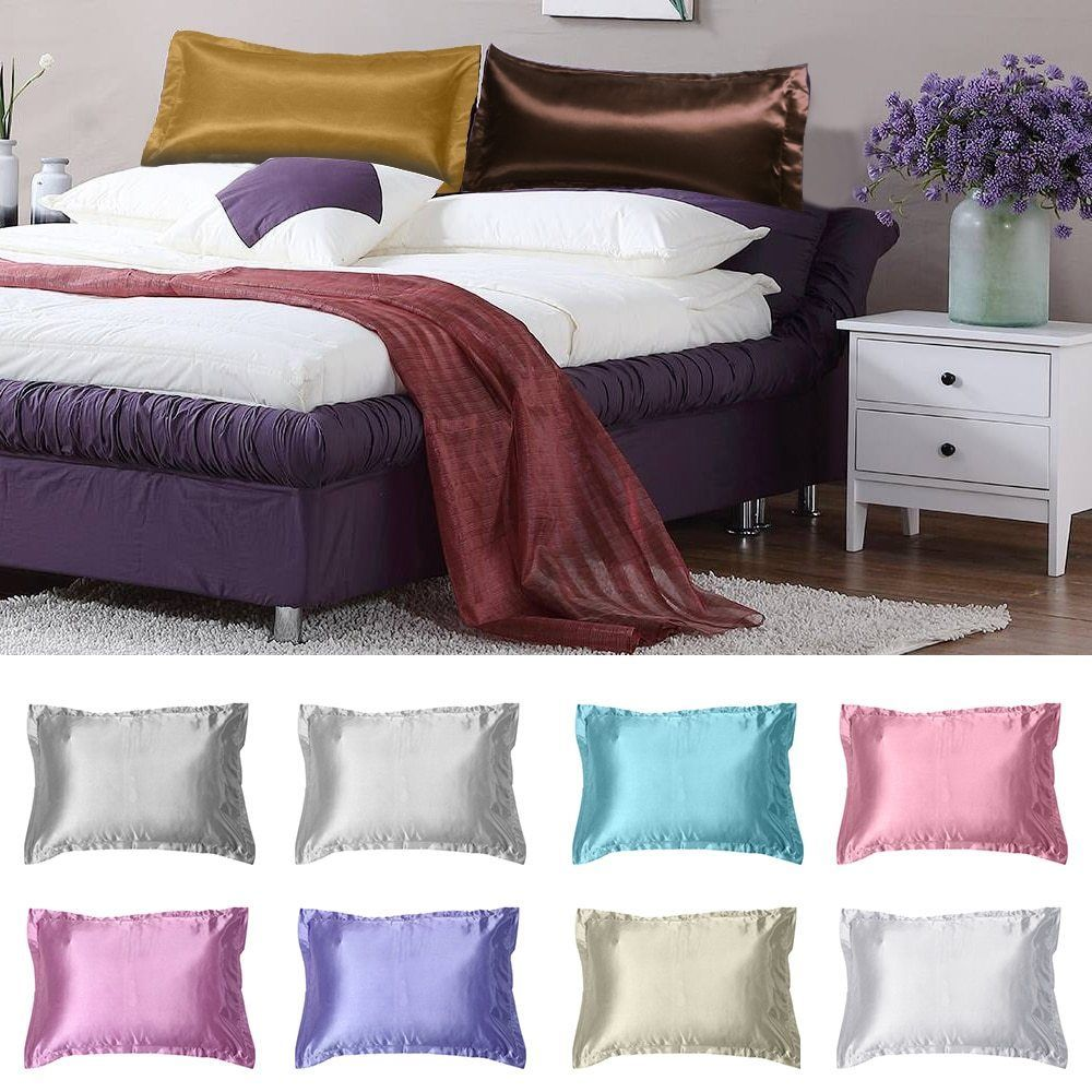 Satin Pillowcases With Zipper Details About Soft Silky Satin Pillow Case Great For Hair And Skin
