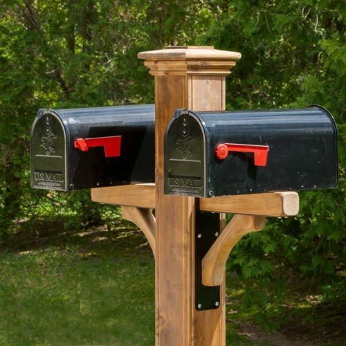Double Mailbox Post Can Hold 1 4 Boxes Double Mailbox Post Mailbox Landscaping Mailbox Post