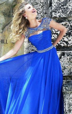 Beaded Ruched Gown by Sherri Hill 11181