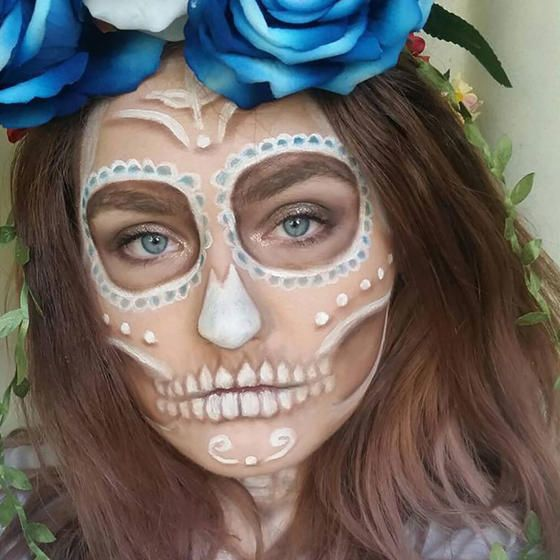 put your best face forward with these drop dead gorgeous day of the dead inspired halloween makeup looks - Best Halloween Makeup To Use