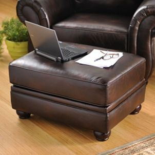 Fabulous Gracia Chocolate Bonded Leather Ottoman Leather Ottoman Pabps2019 Chair Design Images Pabps2019Com