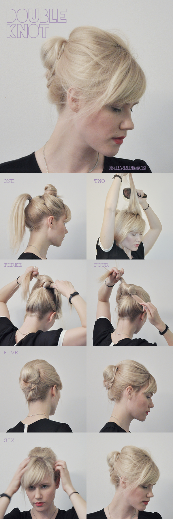 Hair Tutorial Double Knot For You Addy Hair Tutorial Hair Styles Hairstyles Haircuts