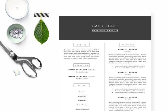 Modern + Clean Resume Template by margaretmakes on @creativemarket - clean resume design