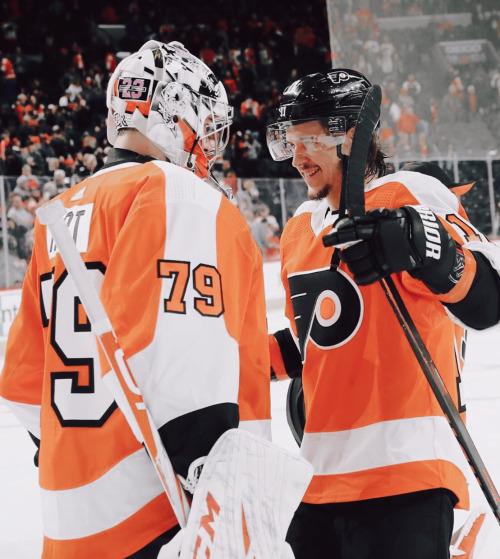 Travis Konecny Carter Hart Philadelphia Flyers Hockey Flyers Hockey Hockey Players