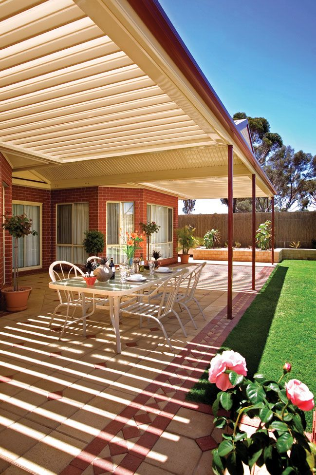 Stratco Outback Sunroof Melbourne | Outdoor living design ...