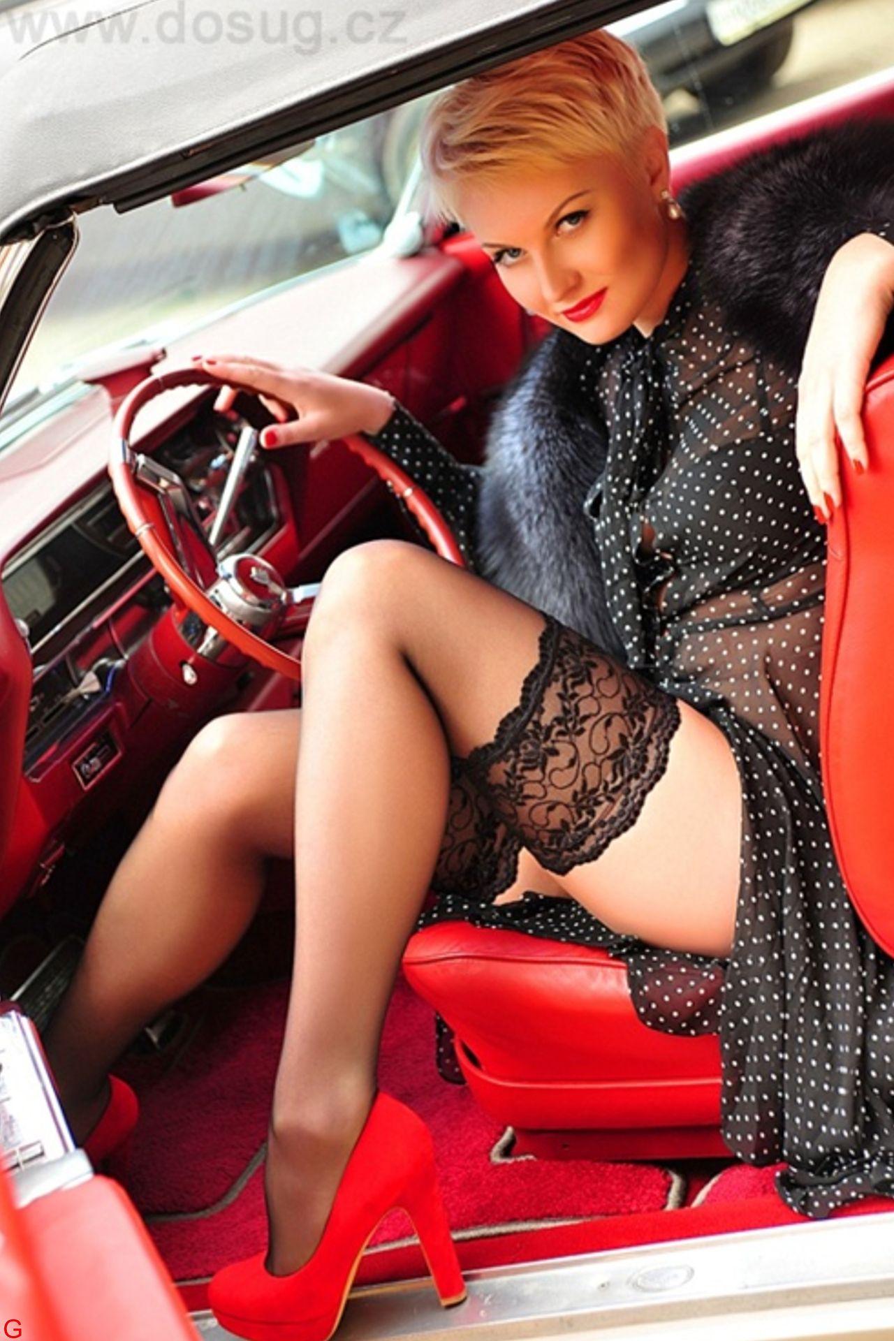 lowrider models wearing stockings
