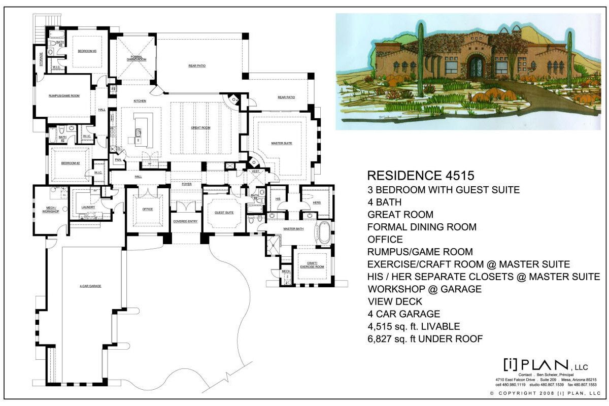 Floor Plans 7 501 Sq Ft To 10 000 Sq Ft Architectural Floor Plans House Floor Plans Mansion Floor Plan